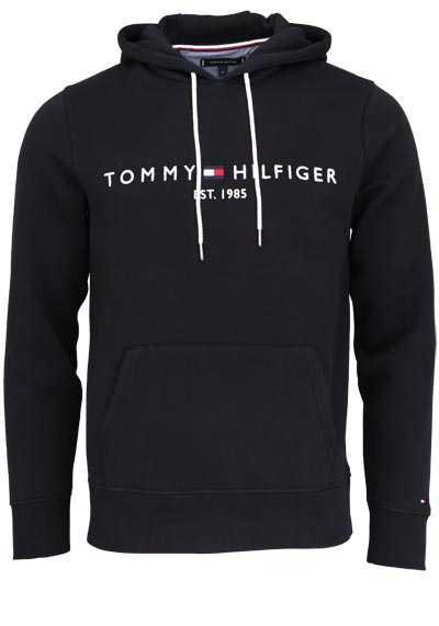 TOMMY HILFIGER Hoodie Langarm mit Kapuze Schriftzug schwarz - Hemden Meister