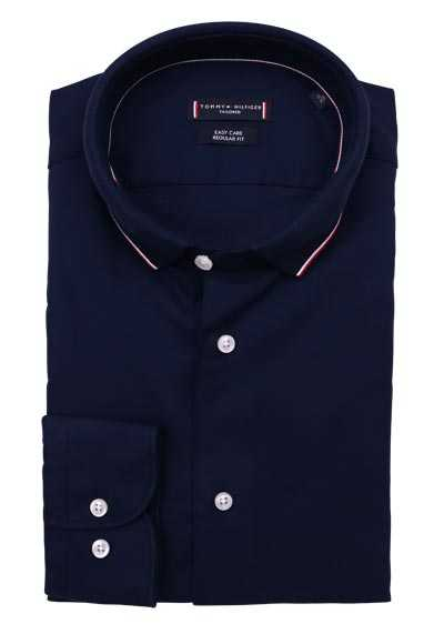 TOMMY TAILORED Regular Fit Hemd Langarm Struktur navy
