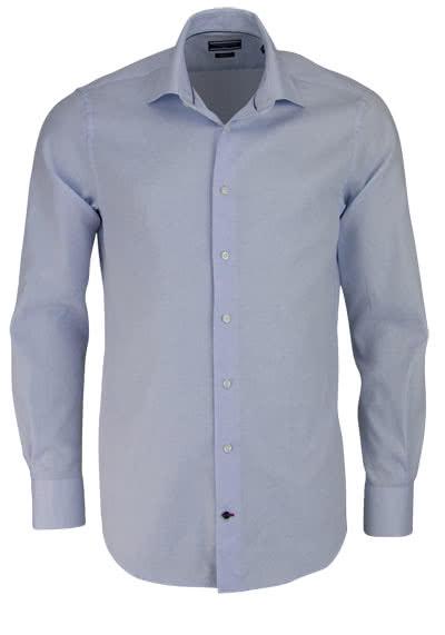 TOMMY TAILORED Hemd extra langer Arm Struktur hellblau - Hemden Meister