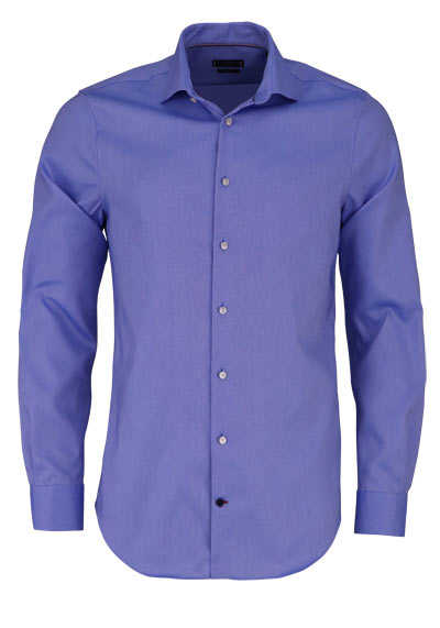 TOMMY TAILORED Slim Fit Hemd extra langer Arm Stretch Pinpoint blau - Hemden Meister