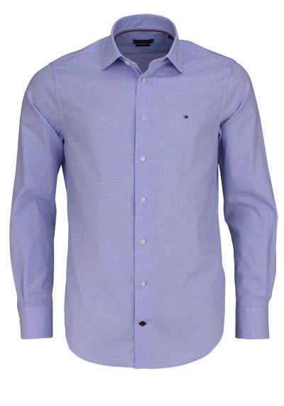 TOMMY TAILORED Regular Fit Hemd Langarm New Kent Kragen Muster blau - Hemden Meister