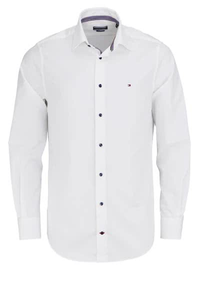 TOMMY TAILORED Regular Fit Hemd extra langer Arm New Kent Kragen weiß - Hemden Meister