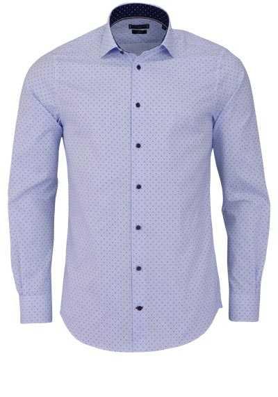 TOMMY TAILORED Slim Fit Hemd extra langer Arm Muster hellblau - Hemden Meister