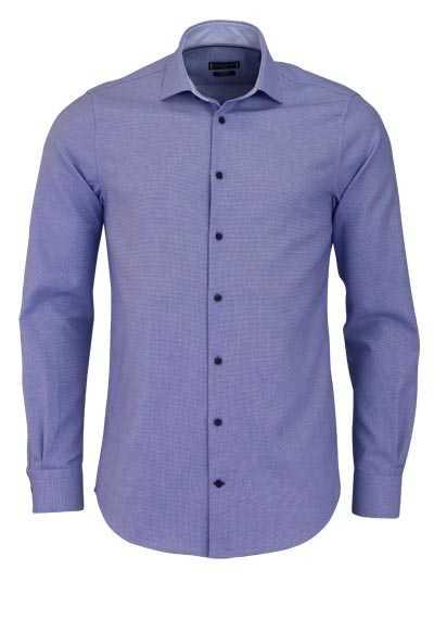 TOMMY TAILORED Slim Fit Hemd extra langer Arm Muster dunkelblau - Hemden Meister