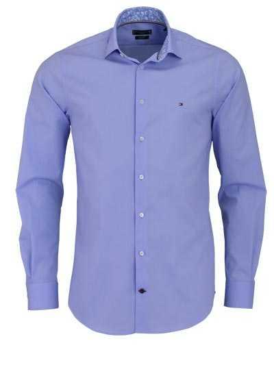 TOMMY TAILORED Slim Fit Hemd Langarm Haifischkragen hellblau - Hemden Meister