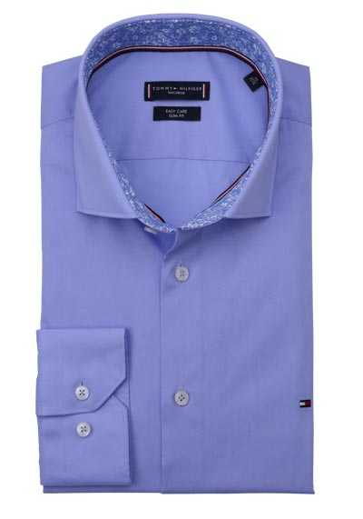 TOMMY TAILORED Slim Fit Hemd extra langer Arm Haifischkragen hellblau
