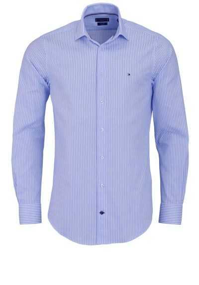 TOMMY TAILORED Slim Fit Hemd extra langer Arm Streifen hellblau - Hemden Meister