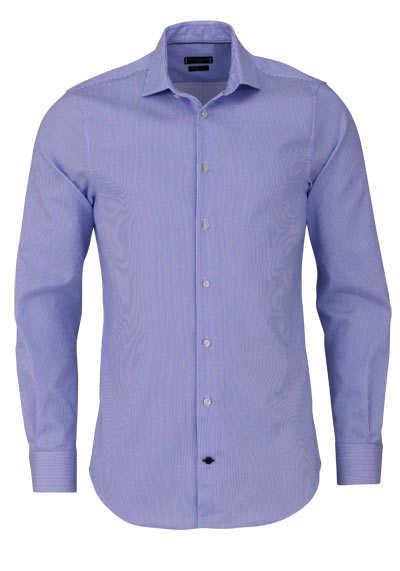 TOMMY TAILORED Hemd extra langer Arm Haifischkragen Streifen blau - Hemden Meister
