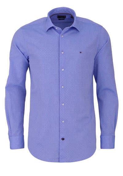 TOMMY TAILORED Regular Fit Hemd Langarm Muster hellblau - Hemden Meister