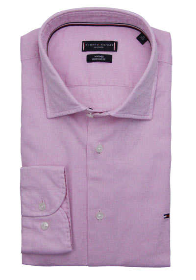 TOMMY TAILORED Regular Fit Hemd Langarm Muster rosa preisreduziert