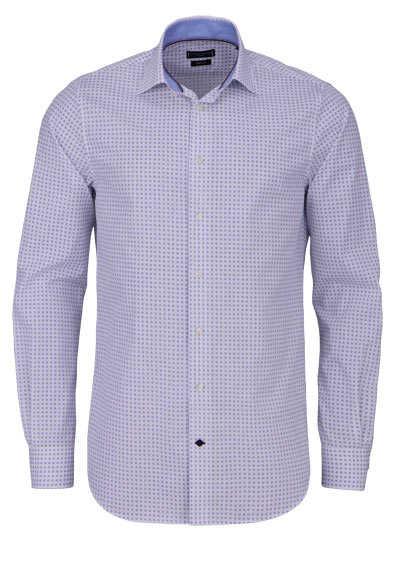 TOMMY TAILORED Regular Fit Hemd extra langer Arm Punkte blau - Hemden Meister