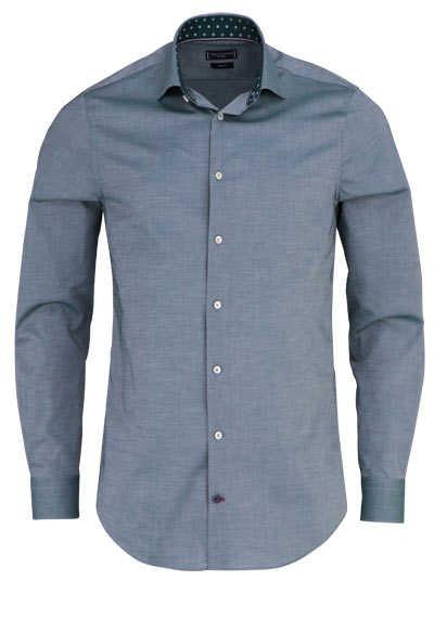 TOMMY TAILIRED Slim Fit Hemd extra langer Arm Chambray oliv - Hemden Meister