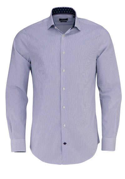 TOMMY TAILORED Slim Fit Hemd extra langer Arm Streifen blau - Hemden Meister