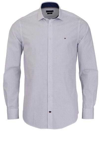 TOMMY TAILORED Slim Fit Hemd Langarm Muster weiß - Hemden Meister