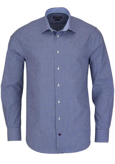 TOMMY TAILORED Hemd Langarm New Kent Kragen Karo dunkelblau - Hemden Meister