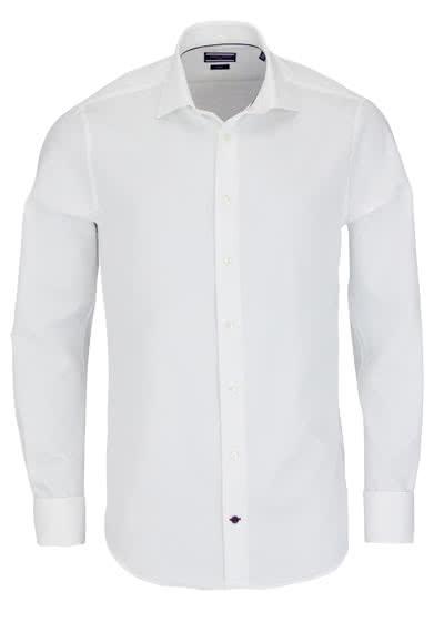 TOMMY TAILORED Hemd Langarm New Kent Kragen Popeline weiß - Hemden Meister
