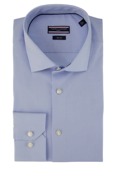 TOMMY TAILORED Hemd Langarm New Kent Kragen Stretch hellblau preisreduziert