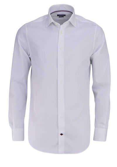 TOMMY TAILORED Regular Fit Hemd Langarm New Kent Kragen Popeline weiß - Hemden Meister