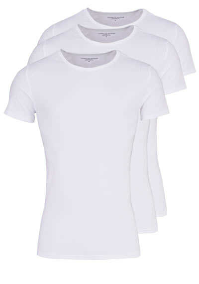 TOMMY HILFIGER Halbarm T-Shirt Rundhals Stretch 3er Pack weiß - Hemden Meister