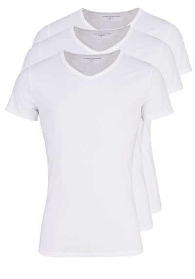 TOMMY HILFIGER Halbarm T-Shirt V-Ausschnitt Stretch 3er Pack weiß - Hemden Meister