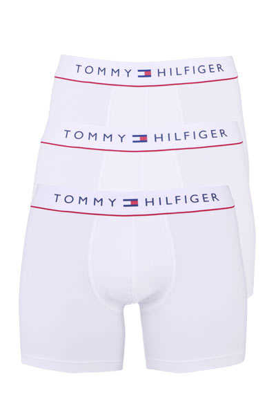 TOMMY HILFIGER Cyclistshorts Logo-Aufschrift Stretch 3er Pack weiß - Hemden Meister