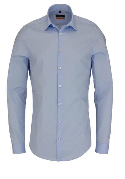 SEIDENSTICKER Slim Hemd Langarm New Kent Kragen Stretch hellblau - Hemden Meister