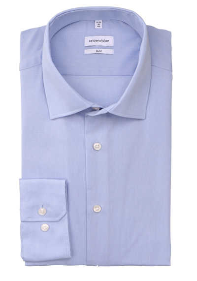 UNO Super Slim Hemd New Kent Kragen extra langer Arm hellblau - Hemden Meister