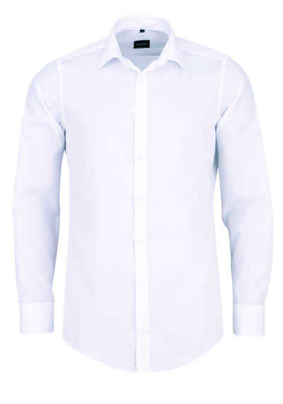VENTI Slim Fit Hemd Basic Kent Langarm Popeline weiß - Hemden Meister
