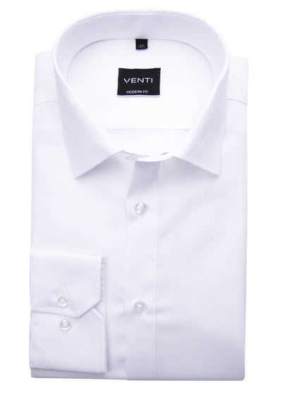 VENTI Slim Fit Hemd super langer Arm Popeline weiß