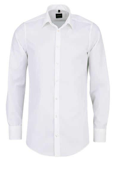 VENTI Slim Fit Hemd Basic Kent Langarm Popeline creme - Hemden Meister