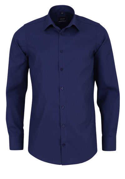 VENTI Modern Fit Hemd Basic Kent Langarm Popeline dunkelblau - Hemden Meister
