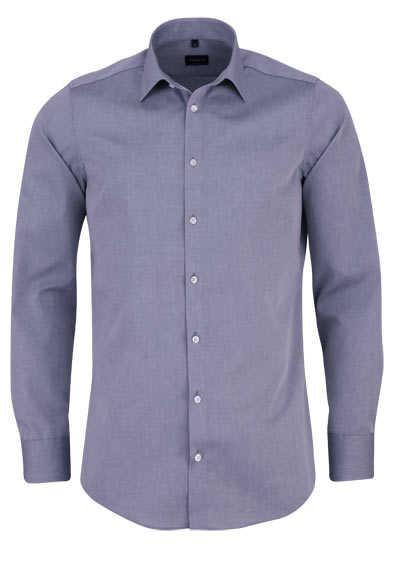 VENTI Slim Fit Hemd Basic Kent Langarm Popeline grau - Hemden Meister