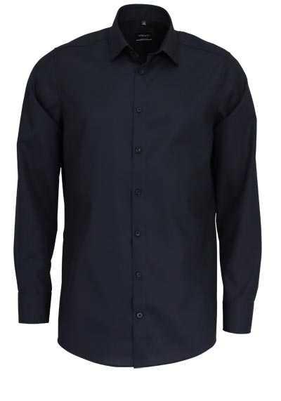 VENTI Slim Fit Hemd Basic Kent Langarm Popeline schwarz - Hemden Meister