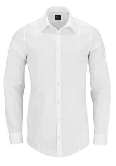 VENTI Body Stretch Hemd super langer Arm Popeline wollweiß - Hemden Meister