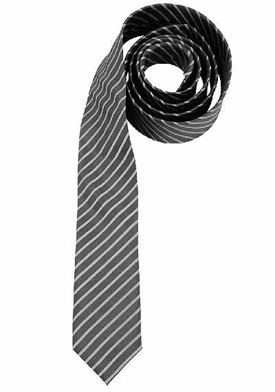 VENTI Seidenkrawatte 6 cm breit fleckenabweisend Streifen grau - Hemden Meister