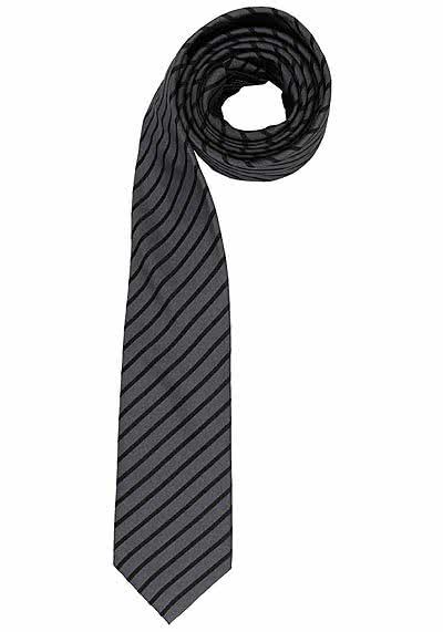 VENTI Seidenkrawatte 6 cm breit fleckenabweisend Streifen schwarz - Hemden Meister