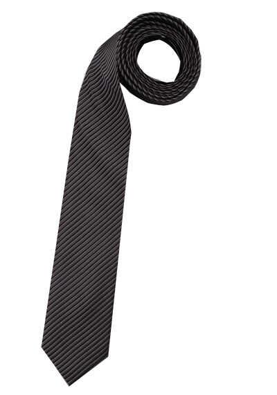 VENTI Seidenkrawatte 6 cm breit Streifen schwarz 001150/800 - Hemden Meister