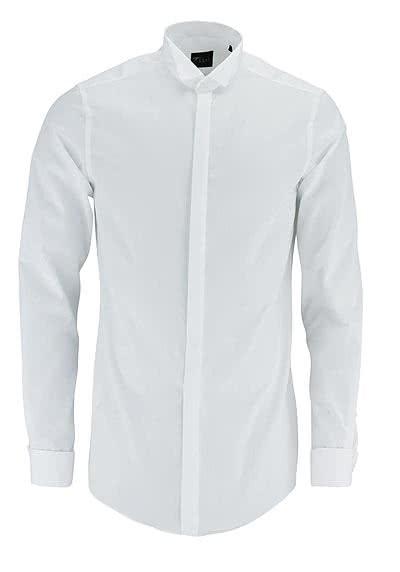 VENTI Slim Fit Galahemd Langarm Umschlagmanschette weiß - Hemden Meister