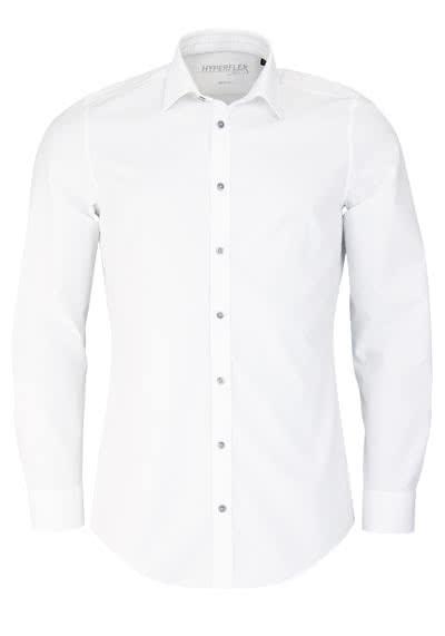 VENTI Body Fit Hemd Langarm New Kent Kragen Chambray weiß - Hemden Meister
