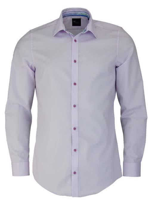VENTI Body Fit Hemd Langarm New Kent Kragen Popeline mauve - Hemden Meister