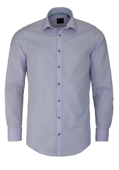 VENTI Slim Fit Hemd Langarm New Kent Kragen Popeline mauve - Hemden Meister