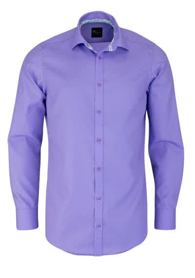 VENTI Slim Fit Hemd Langarm New Kent Kragen Popeline flieder - Hemden Meister