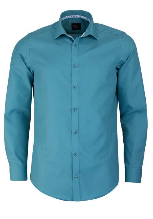 VENTI Slim Fit Hemd Langarm New Kent Kragen Popeline jade - Hemden Meister
