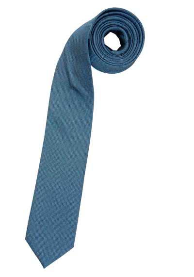 VENTI Seidenkrawatte 6,0 cm breit fleckenabweisend rauchblau - Hemden Meister