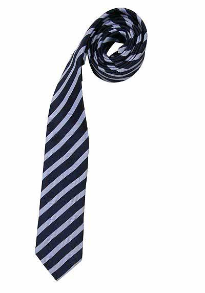 VENTI Seidenkrawatte 6,0 cm breit fleckenabweisend Streifen schwarz - Hemden Meister