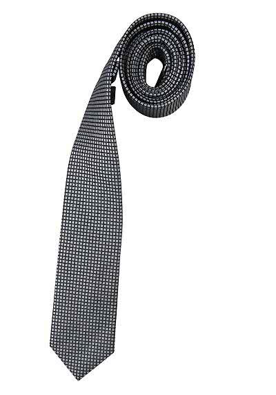 VENTI Seidenkrawatte 6,0 cm breit fleckenabweisend Muster schwarz - Hemden Meister