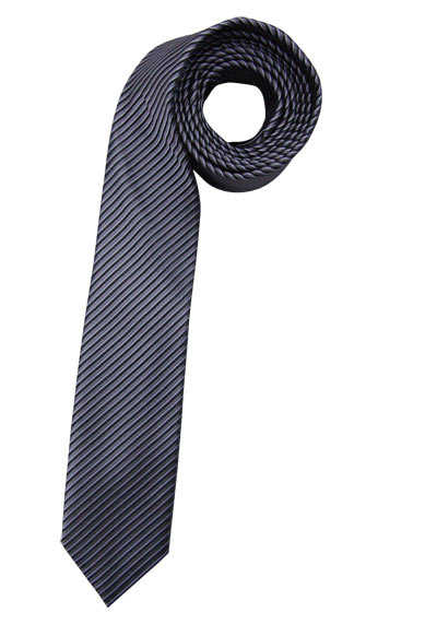 VENTI Krawatte aus Seide und Polyester Streifen schwarz - Hemden Meister