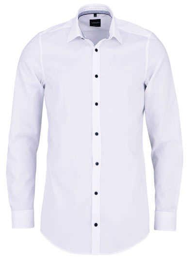 VENTI Body Fit Hemd extra langer Arm schwarzer Besatz weiß - Hemden Meister