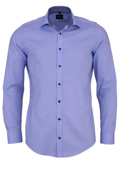VENTI Body Fit Hemd Langarm New Kent Kragen mit Besatz hellblau - Hemden Meister