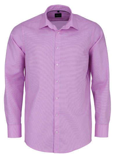 VENTI Modern Fit Hemd super langer Arm Struktur rosa - Hemden Meister